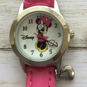 DISNEY MINNIE MOUSE Ladies WATCH Silver Pink BAND